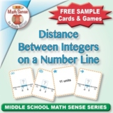 FREE Distance Between Integers on a Number Line: 40 Math Matching Game Cards 7N