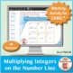 Multi-Match Game Cards 7N: Multiplying Integers on the Num