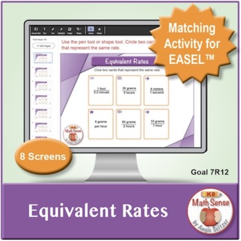 Equivalent Rates: 40 Math Matching Game Cards 7R12