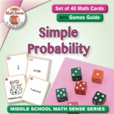 Simple Probability: 40 Math Matching Game Cards 7S