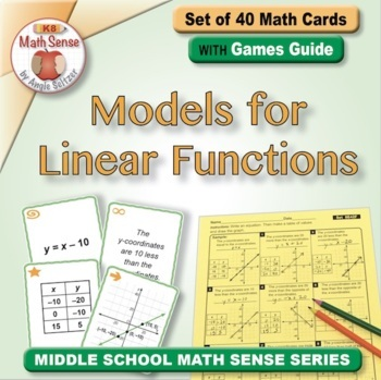 Models for Linear Functions: Math Matching Game Cards 8E