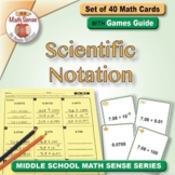 Scientific Notation: Math Matching Game Cards 8E
