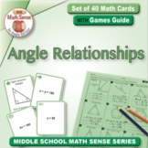 Angle Relationships: Math Matching Game Cards 8G Geometry