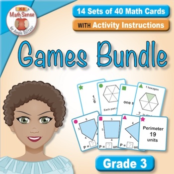 Grade 3 Multi-Match Math Games for Common Core: BONUS BUNDLE