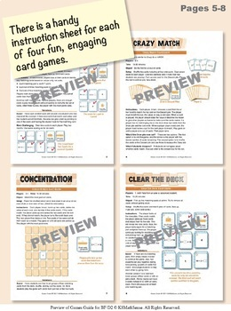 Multi-Match Game Cards BUNDLE: Division Facts for 2s through 9s
