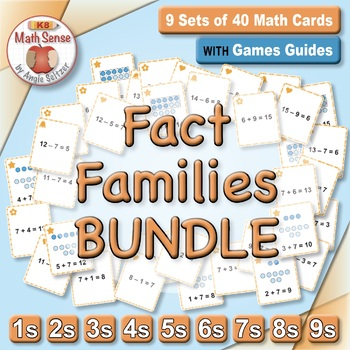 Multi-Match Game Cards BUNDLE: Fact Families for Addition and Subtraction