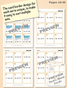 Fact Families for Addition and Subtraction: Math Matching Game Cards BUNDLE