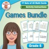 BONUS BUNDLE: Grade 6 Multi-Match Math Games for Common Core