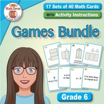 Grade 6 Multi-Match Math Games for Common Core: BONUS BUNDLE