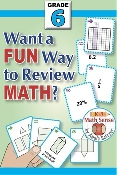 Grade 6 Multi-Match Math Games for Common Core: BONUS BUNDLE