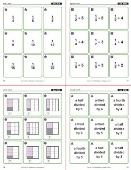 Multi-Match Game Cards 5F: Dividing Unit Fractions by Whole Numbers