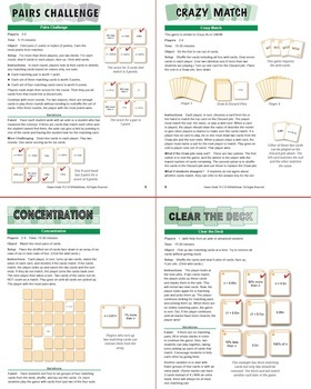 Expressions for Percent More and Less: 40 Math Matching Game Cards 7E