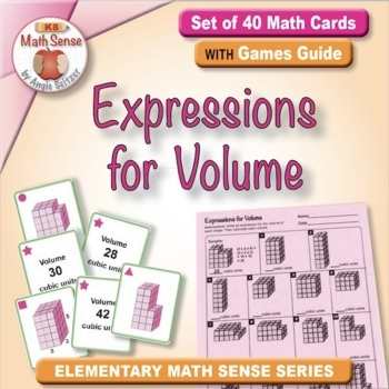 Expressions for Volume: 40 Math Matching Game Cards 5M