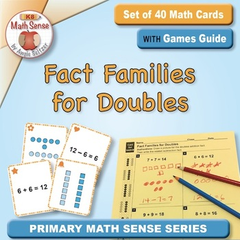 Multi-Match Game Cards 1A: Fact Families for Adding and Subtracting Doubles