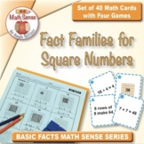 FREE Fact Families for Square Numbers: 40 Math Matching Cards 3A23