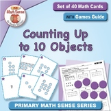Counting Up to 10 Objects: 40 Math Matching Game Cards KC