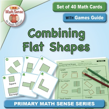 Combining Flat Shapes: Math Matching Game Cards KG26