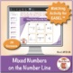 Mixed Numbers on the Number Line: 40 Math Matching Game Cards 4F21