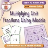 Math Matching Game Cards 5F: Multiplying Unit Fractions Using Models