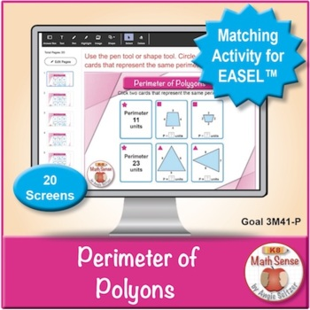 Multi-Match Game Cards 3M: Perimeter of Polygons