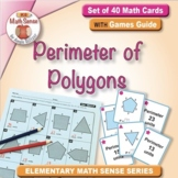 Perimeter of Polygons: 40 Math Matching Game Cards 3M