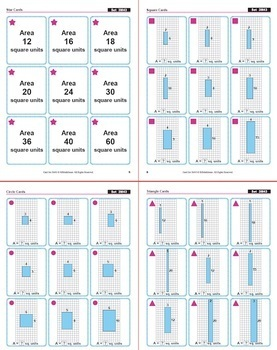 FREE Same Area Different Perimeter Rectangles: 40 Math Matching Game Cards 3M43
