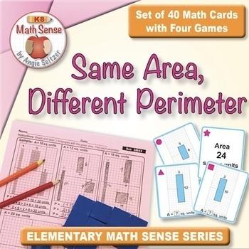 Multi-Match Game Cards 3M: Same Area, Different Perimeter