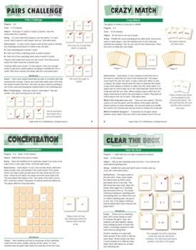 Simplifying Linear Expressions: 40 Math Matching Game Cards 7E11