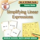 Multi-Match Game Cards 7E: Simplifying Linear Expressions