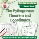The Pythagorean Theorem and Coordinates: 40 Math Matching Game Cards 8G