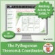 The Pythagorean Theorem and Coordinates: 40 Math Matching Game Cards 8G23