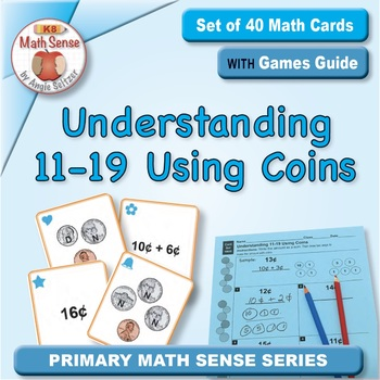 Multi-Match Game Cards 1B: Understanding 11-19 Using Coins