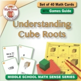 Understanding Cube Roots: 40 Math Matching Game Cards 8E