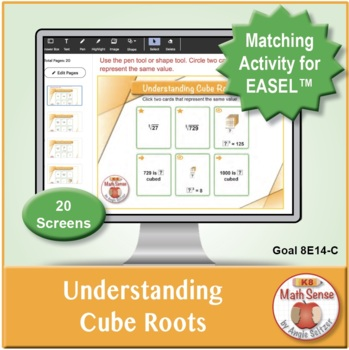 Understanding Cube Roots: 40 Math Matching Game Cards 8E14