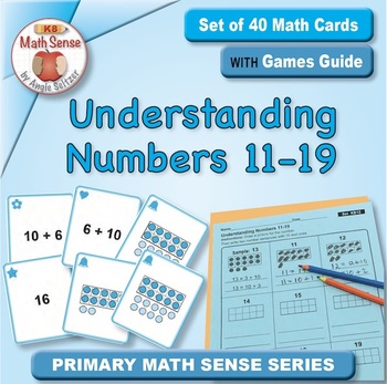 FREE Understanding Numbers 11-19: 40 Math Matching Game Cards KB12