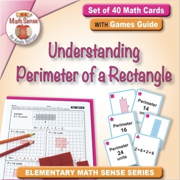 Math Matching Game Cards 3M: Understanding Perimeter of a Rectangle