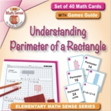 Understanding Perimeter of a Rectangle: 40 Math Matching Game Cards 3M41