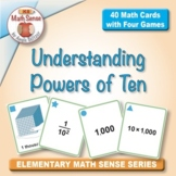 Multi-Match Game Cards 5B: Understanding Powers of Ten