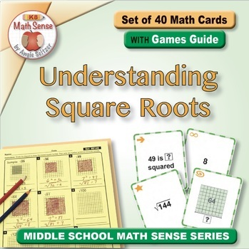 Multi-Match Game Cards 8E: Understanding Square Roots