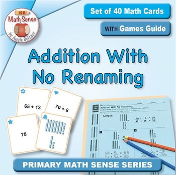 Addition With No Renaming: 40 Math Matching Game Cards 1B