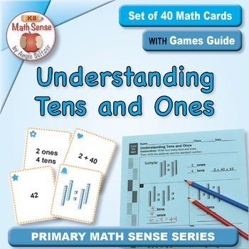 Understanding Tens & Ones (with Base 10 Blocks): 40 Math Matching Game Cards 1B