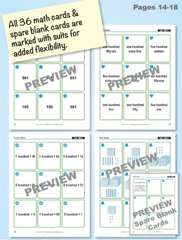 Read & Write Numbers to 1000: 40 Math Matching Game Cards 2B15