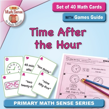 Time After the Hour: 40 Math Matching Game Cards 2M31