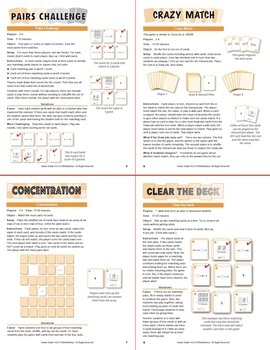 Solving Simple Equations: 40 Math Matching Game Cards 4A