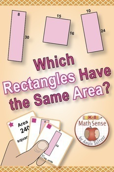 Rectangles with Equal Areas: Math Matching Game Cards 4M {Print/Digital Bundle}