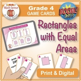 Rectangles with Equal Area: Math Matching Game Cards 4M17 {Print/Digital Bundle}