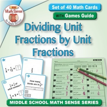 Multi-Match Game Cards 6N: Dividing Unit Fractions by Unit Fractions