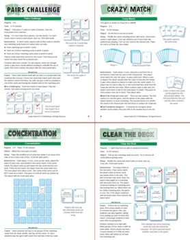 Dividing Unit Fractions by Unit Fractions: 40 Math Matching Game Cards 6N