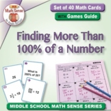 Finding More Than 100% of a Number: 40 Math Matching Game Cards 6R19