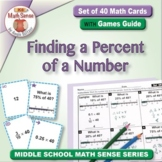 Finding a Percent of a Number: 40 Math Matching Game Cards 6R19